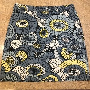 Ann Taylor Factory Floral Print Pencil Skirt 10